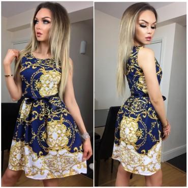 Разкроена рокля с колан