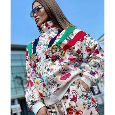 Комплект яке и панталон на цветя
